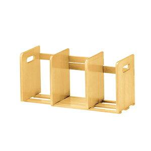 ブックスタンド スライド式 幅335-620×奥行180×高さ220mm ナチュラル ブラウン koeki 木製 卓上 伸縮 本立て ブックラック おしゃれ 本 ラック 収納 ブックラック KE-W-007