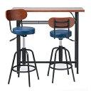 TAM カウンターテーブル+チェア2脚セット テーブル:幅1000 奥行350 高さ905mm チェア:幅425 奥行425 高さ840-940mm ブ…
