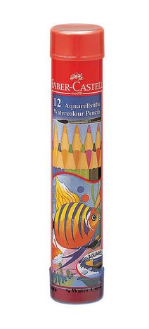 FABER-CASTELL(ファーバーカステル) 水彩色鉛筆 丸缶 12色セット TFC-115912 74819(900) 【RCP】