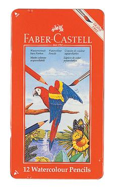 FABER-CASTELL(ファーバーカステル) 水彩色鉛筆 12色セット TFC-WCP/12C 74413(1000) 【RCP】