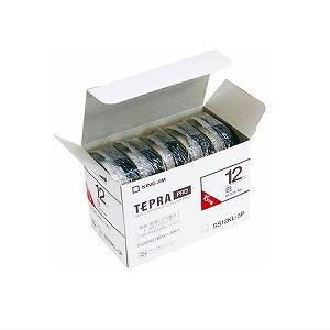 KINGJIM キングジム 「テプラ」 PROテープ エコパック(5個入り) 白/黒文字 ロングタイプ 12mm幅 SS12KL-5P【RCP】