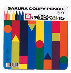 サクラクレパス クーピーペンシル15色 (缶入) (1200)FY15 【RCP】