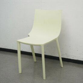 【中古】スタッキングチェア 肘無 ドリアデ BOチェア ライトイエロー オフィス チェア 椅子 事務所 オフィス家具 業務用 IS-809730C ∴スタッキングチェア 肘無 ドリアデ BOチェア