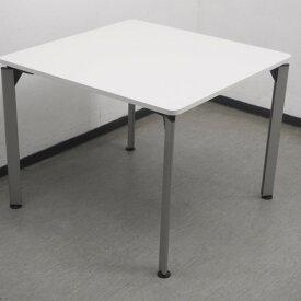 【中古】ミーティングテーブル ホワイト ダイニングテーブル 角テーブル DE DDEP-099F-W9 イトーキ ホワイトW テーブル スタック 会議テーブル オフィス家具 業務用 TM-832464B ∴角テーブル DE DDEP-099F-W9 イトーキ