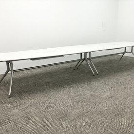 【中古】【クーポンあり】ミーティングテーブル ホワイト ダイニングテーブル 要組立 DD DDD-482FW7S-W9 イトーキ ホワイトW TM-836415B ∴ミーティングテーブル 要組立 DD DDD-482FW7S-W9 イトーキ