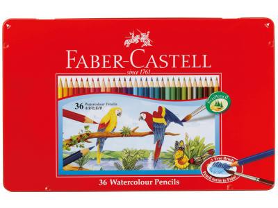 【ゆうパケット対応可】ファーバーカステル水彩色鉛筆(筆付き)36色セット【シャチハタ】 TFC-WCP/36C
