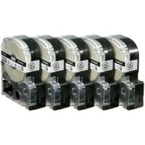 PROテープ SS12KL-5 白に黒文字 12mm 5個【キングジム】