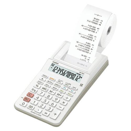 プリンター電卓【カシオCASIO】HR-8RC-WE