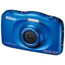 防水・耐衝撃・防塵・耐寒デジタルカメラ【ニコン】 COOLPIX W100BL ブルー