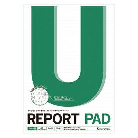 レポートパッド A4判中太罫(8mm×29行)中紙枚数:50枚【マルマン】P142A