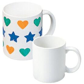 【美濃粘土】絵付け用 マグカップ 絵付け用 皿 らくやきマーカーに最適白 無地 ■マグカップか皿かをお選びください■