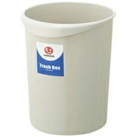 持ち手付きゴミ箱丸型8.1L グレー N151J-G5【ジョインテックス】