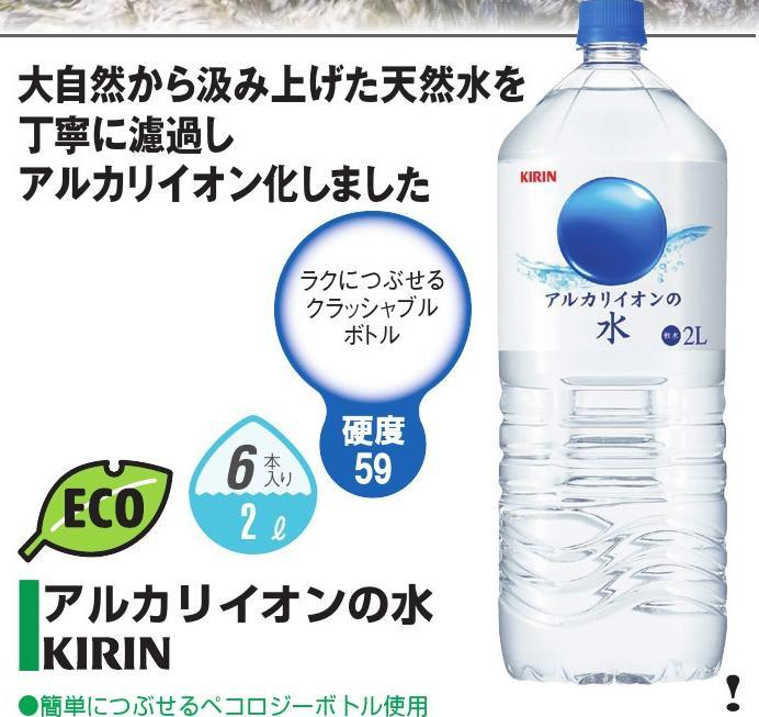 キリンビバレッジアルカリイオンの水 2L×6本