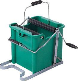 【テラモト】モップ絞り器B型 手回しタイプ 緑 CE-441-400-0