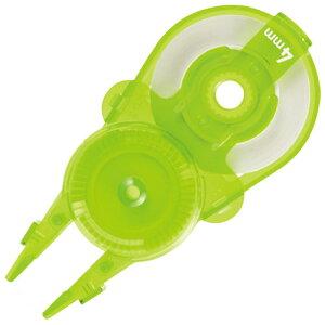 修正テープ ホワイパースライド 交換 カートリッジ 4mm×12m LG ライトグリーン 10個【プラス】