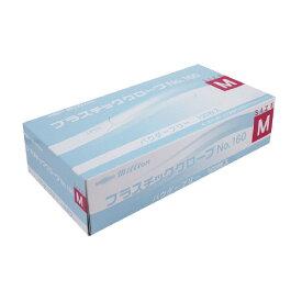 ミリオン プラスチック手袋 粉無 No.160 MLH-160-M【共和】