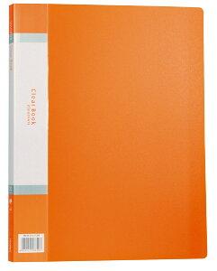 【ゆうパケット対応可】△クリアブック 20ポケット(インデックスシール オレンジ