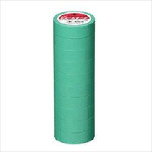ビニールテープ NO200-19 19mm*10m 緑 10巻 【ヤマト】
