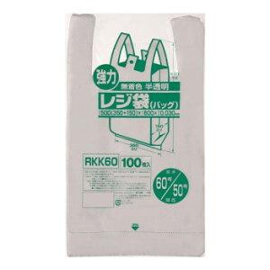 (代引き不可)(同梱不可)ジャパックス レジ袋 関東60号/関西50号 半透明 100枚×10冊 RKK60