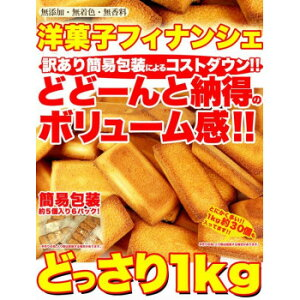 (代引き不可)(同梱不可)有名洋菓子店の高級フィナンシェ どっさり1kg SW-051