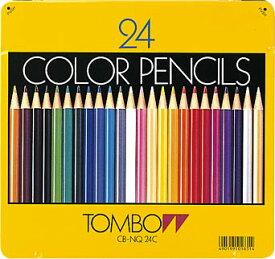 【トンボ鉛筆】 CB-NQ24C 色鉛筆 (缶入) 24色セット【YDKG-tk】【fs2gm】【RCP】【fs3gm】