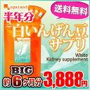 BIG白いんげん豆サプリ(約6ヶ月分)◆半年分対象商品◆ 送料無料 白インゲン豆エキス末(ファビノール) ダイエット…