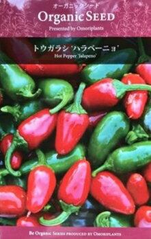 オーガニック・シード:トウガラシ(ハラペーニョ) 西洋野菜の種 料理用