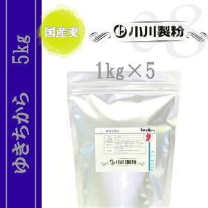ゆきちから(中華麺用粉) 5kgセット ※国産麦100%