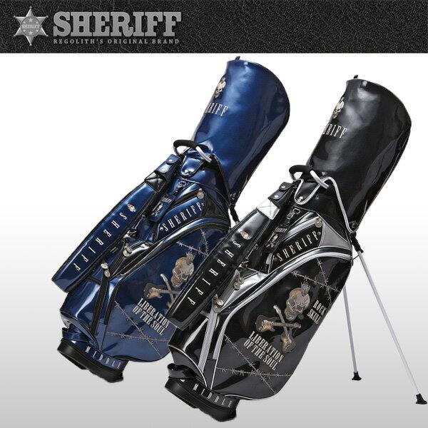 シェリフゴルフ (SHERIFF) スカルシリーズ スタンド式 キャディバッグ 限定生産 シェリフ スタンド CB【限定100本】