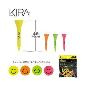 【ネコポス対応】 キャスコ(kasco) KIRA smile ウッドティーショート(40mm)