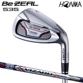 本間ゴルフ Be ZEAL535アイアン VIZARDシャフト 5本セット(#6〜#10) HONMA GOLF ビジール 日本正規品