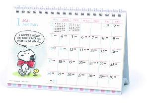 2021年 水彩スケジュールカレンダー/PEANUTS(スヌーピー)(卓上) 1000116019 vol.165