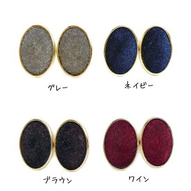 【SALE】フロッキーオーバルイヤリング