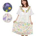 【SALE】かわいいアニマル&ドット柄 ふんわり コットン インド綿 ミディアムスカート 表示在庫限りで販売終了!