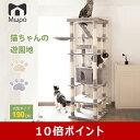 【ポイント10倍】【豪華】190cm キャットタワー 大型猫 ハイタワー 落下防止柵付 多頭飼い 送料無料 爪とぎスロープ …