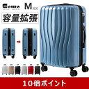 【ポイント10倍】スーツケース Mサイズ キャリーケース キャリーバッグ TSAロック 軽量 ファスナー開閉タイプ 容量ア…