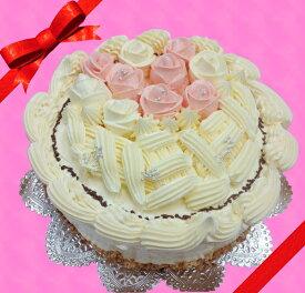 母の日に最適!バタークリームケーキ♪6号