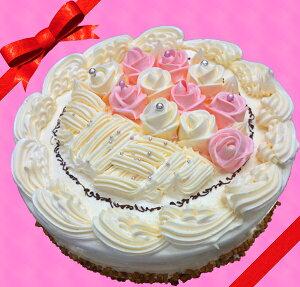 母の日に最適!バタークリームケーキ♪7号