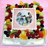 生クリームケーキバースデーケーキお誕生日パーティー記念日サプライズ(四角)7号