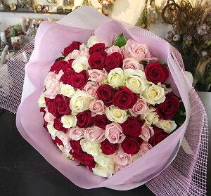 バラ100本の花束ミックス花高級赤バラプロポーズギフト結婚記念日花ギフトギフトプレゼント2020プレゼント女性送別会退職祝い歓送迎会送別卒業ドライフラワーに最適母ホワイトデー