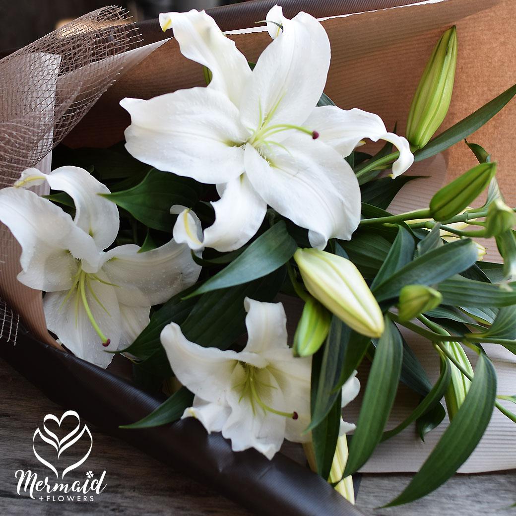 お中元 ギフト 花 カサブランカ 生日 花 お礼 歓送迎 15輪 花束 お彼岸 お供え 花 フラワー 母 誕生日プレゼント 高級 白い花 香り