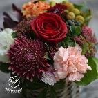 花誕生日結婚祝い送別定年退職転勤お礼歓送迎アレンジメント「ア・ラ・モード」女性プレゼント送料無料母春のお花バレンタインホワイトデー
