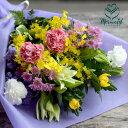 お供え お悔み 春 彼岸 花暦」花 ボリューム 華やか 一対の花束 お墓参りフラワー