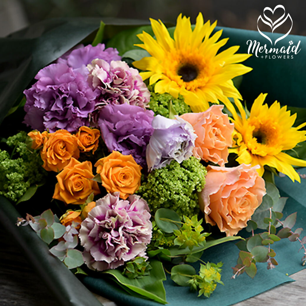 お中元 花 ギフト 誕生日 花束 ブーケ 祝い 人気 送別 定年 退職 誕生日 バラ 薔薇 フレンチスタイル ヨーロピアン スタイリッシュ 華やか 上品 クール便