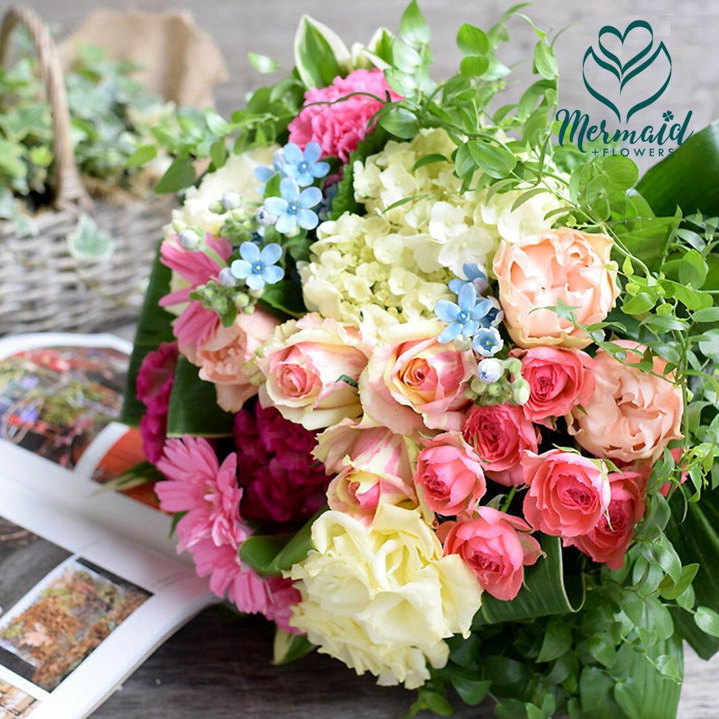 花 フラワー ギフト 誕生日 結婚祝い お礼 送別 特別 送別 歓迎 退職祝い 記念日 退職祝い ゴージャス花束 ラウンド 誕生日 母の日 お母さんへのプレゼント Mothersday 2019 祝い