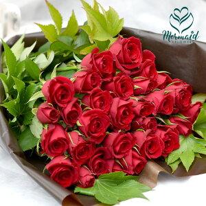 シンプルローズ赤バラ(花束)