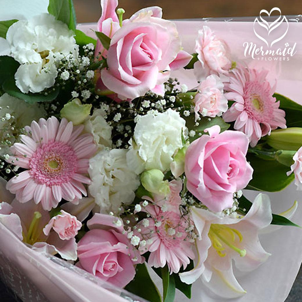 誕生日 女性 送別 定年 退職 結婚記念日 結婚祝い ピンク フラワー お見舞い 優しいあなた 花束 送料無料 母