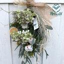ギフト プレゼント 花 誕生日 新築祝い 結婚祝い お礼 アジサイ ドライフラワー リース スワッグ インテリア ユーカリ 実物など 『ボタ…