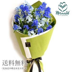 デルフィニウム花束花誕生日結婚祝いお礼歓送迎「delfino-デルフィーノ」ブルー青デルフィニウムの花束【送料無料】フラワー送別退職