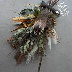 玄関花ギフトプレゼント2020お礼歓送迎ドライフラワー「フェザント」父の日